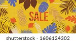 sale website banner. sale tag.... | Shutterstock .eps vector #1606124302