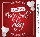 valentine's day sale background.... | Shutterstock .eps vector #1606144222