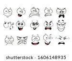cartoon facial expressions set. ... | Shutterstock .eps vector #1606148935