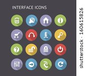 flat icons for interface....