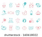 infant icon set   | Shutterstock .eps vector #160618022