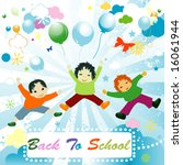 back to school   joyful design... | Shutterstock .eps vector #16061944