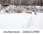 Cute Snowman With People...
