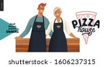 pizza house  small business... | Shutterstock .eps vector #1606237315