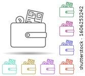 bitcoin wallet multi color icon....