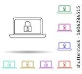 computer security multi color...