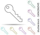 key multi color icon. simple...