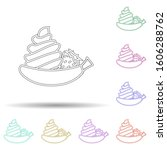 banana ice cream multi color...