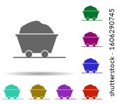 cart in multi color style icon. ...