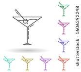 martini glass dusk multi color...