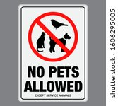 No Pet Allowed Sign. Eps10...