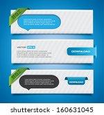 banner set with speech bubbles... | Shutterstock .eps vector #160631045