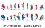 set of men and women cartoon... | Shutterstock .eps vector #1606313998