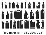 detergent of product black set... | Shutterstock .eps vector #1606347805