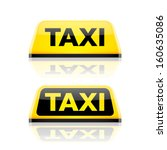 Taxi car roof sign. Vector. - stock vector