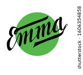 Personal Name Emma. Vector Set...