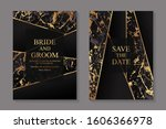 set of modern abstract luxury... | Shutterstock .eps vector #1606366978