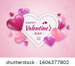 valentine's day greeting cards... | Shutterstock . vector #1606377802