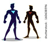 super hero silhouette in... | Shutterstock .eps vector #160638596