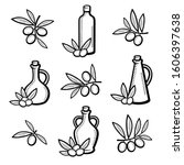 olive set. collection icon... | Shutterstock .eps vector #1606397638