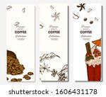 coffee illustration. hand drawn ... | Shutterstock .eps vector #1606431178