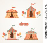collection of tents for the... | Shutterstock .eps vector #160643576