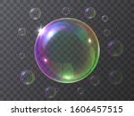 realistic soap bubbles isolated ... | Shutterstock .eps vector #1606457515