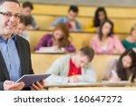 portrait of an elegant teacher... | Shutterstock . vector #160647272