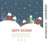 happy holidays greeting banner | Shutterstock .eps vector #160648565