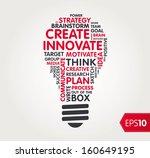 innovate word shape   cloud | Shutterstock .eps vector #160649195