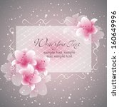 wedding card or invitation with ... | Shutterstock .eps vector #160649996