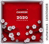chinese new year 2020 banner.... | Shutterstock .eps vector #1606506808