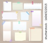 paper notes on stickers ... | Shutterstock .eps vector #1606522015