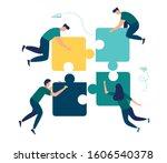 business concept. team metaphor.... | Shutterstock .eps vector #1606540378