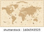 world map vintage cartoon... | Shutterstock .eps vector #1606543525