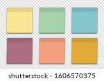 empty sheet note papers... | Shutterstock .eps vector #1606570375