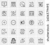 set of 25 universal business...   Shutterstock .eps vector #1606579495