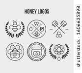 honeycomb collection elements... | Shutterstock .eps vector #1606635898