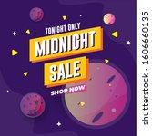 midnight sale template design... | Shutterstock .eps vector #1606660135
