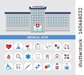 medical icon and hospital web... | Shutterstock .eps vector #160668032