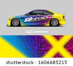 rally car graphic livery design ... | Shutterstock .eps vector #1606685215