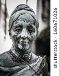 scary cemetery statue horror... | Shutterstock . vector #160671026