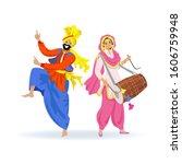 Happy Sikh Couple  Bearded Man...