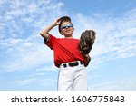 Boy Pitcher Smiling And...