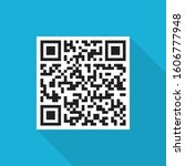 Sample Qr Icon With Long Shadow ...