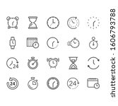Time Icon Set In Flat Style....