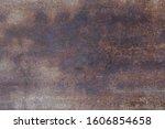 Dark Worn Rusty Metal Texture...