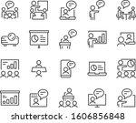 set of training icons ... | Shutterstock .eps vector #1606856848
