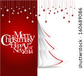 merry christmas and happy new... | Shutterstock . vector #160689086