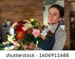 An Elderly Flower Girl Collect...